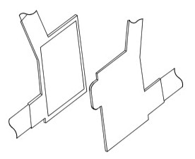 Front-view detailed diagram of the wheelchair safety harness velcro release